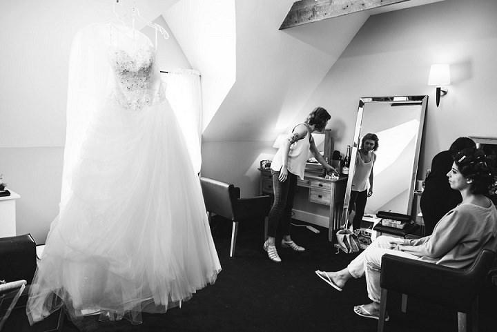 Wedding at Bassmead Manor wedding dress Barn Cambridge By Dewan Demmer Photography