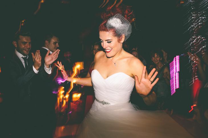 Modern Manchester happy bride Town Hall Wedding by Emma Boileau