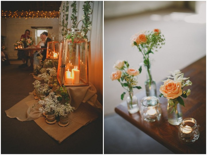 Emily and Jonny's Rustic Peach and Grey Barn details Wedding By Soul Images