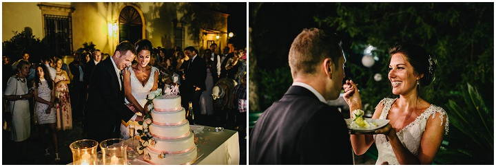 Tuscany cake cutting Wedding By Helen Abraham Photography