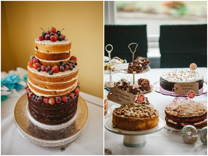 Scottish naked cake Wedding with a Claire Pettibone dress By Christopher Currie