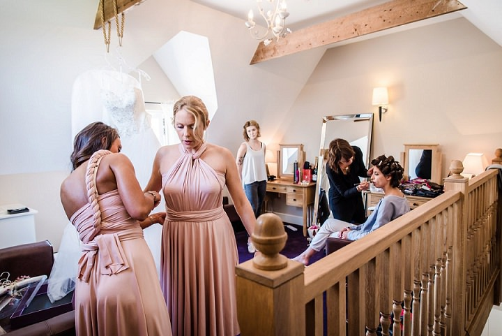 Wedding at Bassmead bridesmaids Manor Barn Cambridge By Dewan Demmer Photography