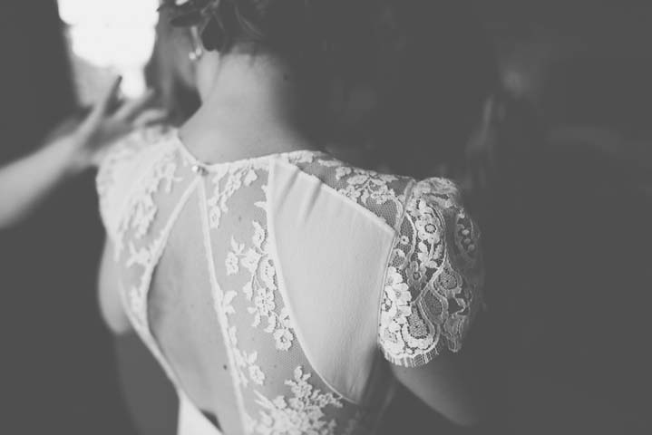 Wedding Lace Dress at The Haymeadow in Somerset by This and That Photography