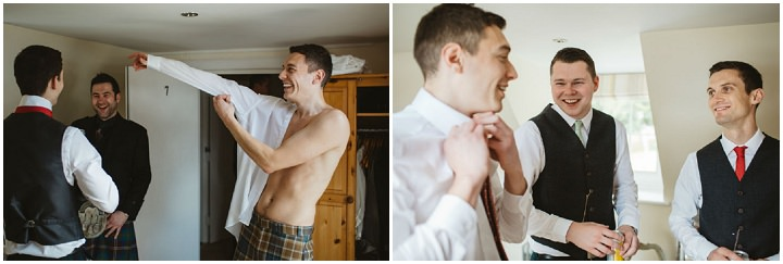 Scottish Groomsmen Wedding with a Claire Pettibone dress By Christopher Currie