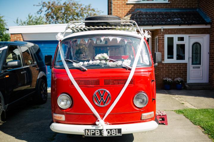Yorkshire Barmbyfield campervan Barns Wedding By Stott and Atkinson