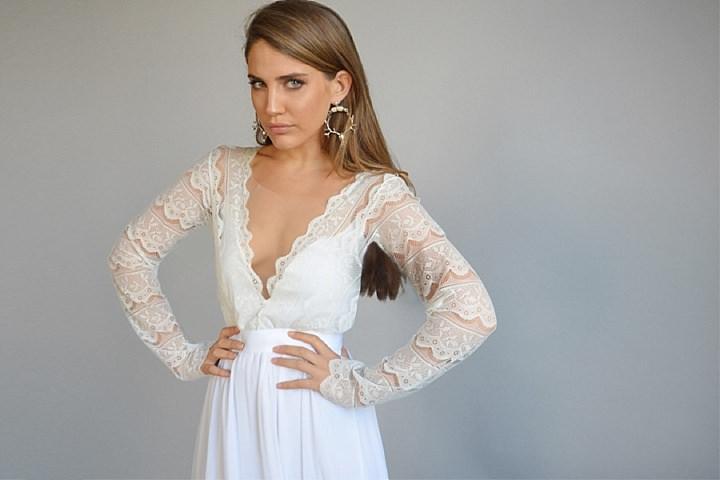 Bridal Style: Barzelai Wedding dress Bride - Dresses that are effortless yet chic and feminine