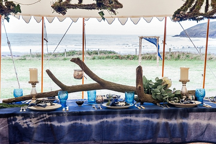 Outdoors Bohemian Table Beach Wedding Inspiration