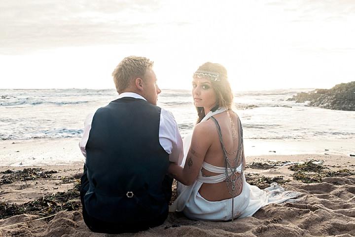 Outdoors Bohemian Beach Wedding Inspiration