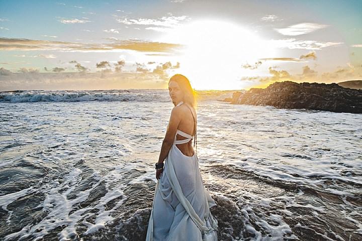 Outdoors Bohemian Bride Beach Wedding Inspiration