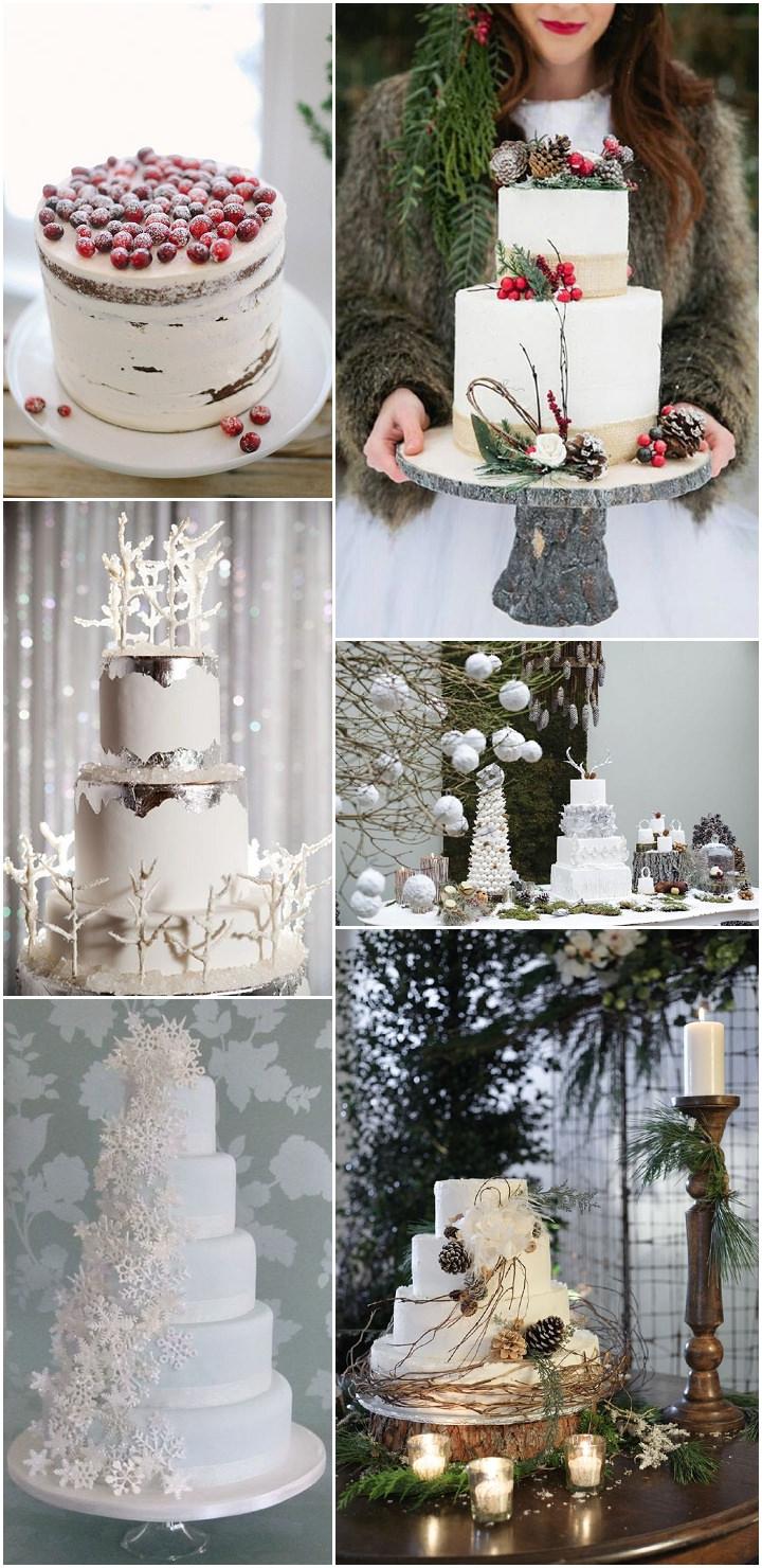 winter wedding - cake