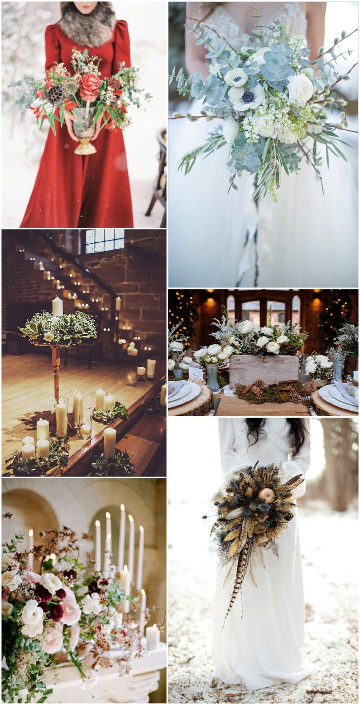 winter wedding - flowers