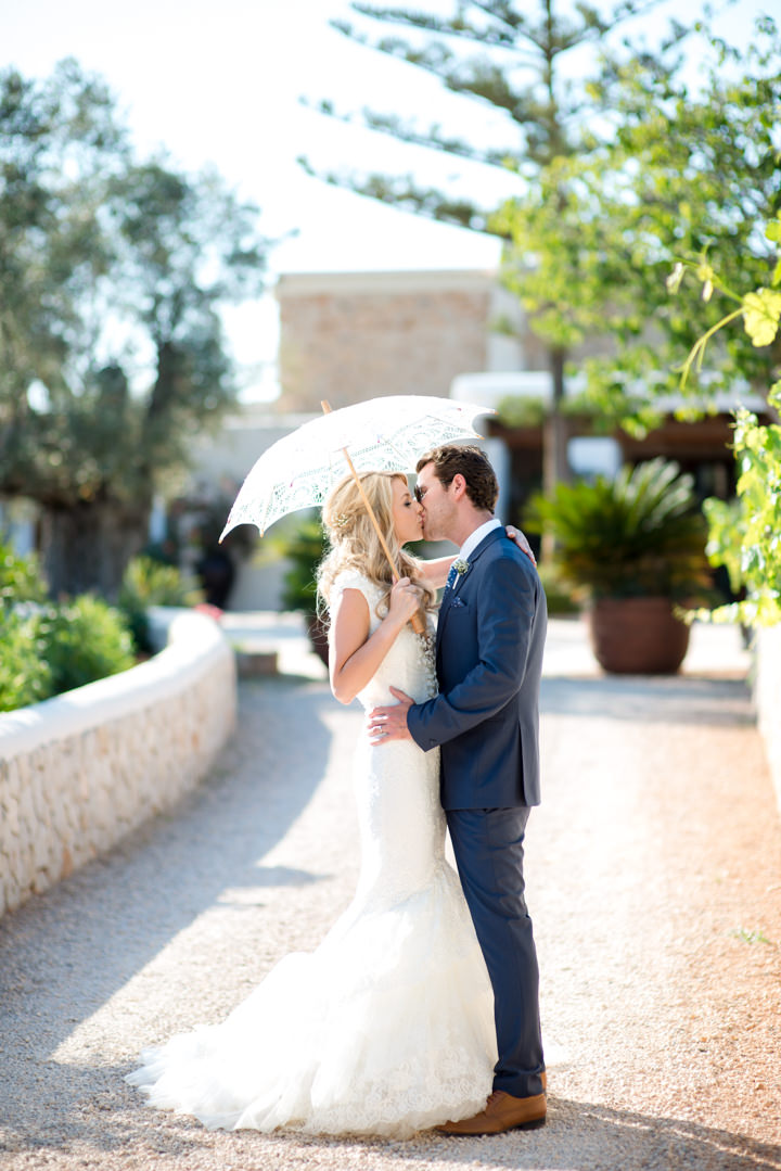 Fiona and Ryan's White and Gold Ibiza Wedding By Gypsy Westwood Photography