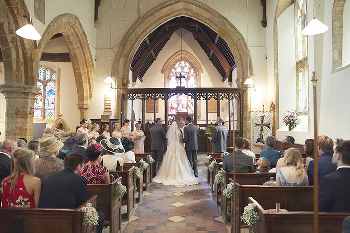 Barn Wedding at Dodford Manor church wedding