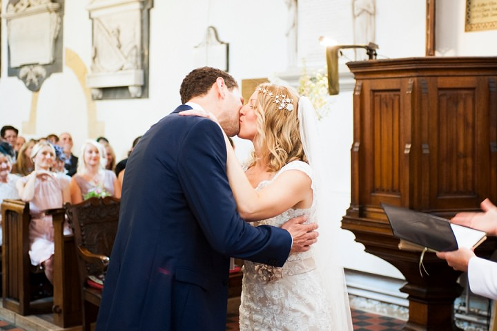 Handmade Berkshire Wedding first kiss By Source Images
