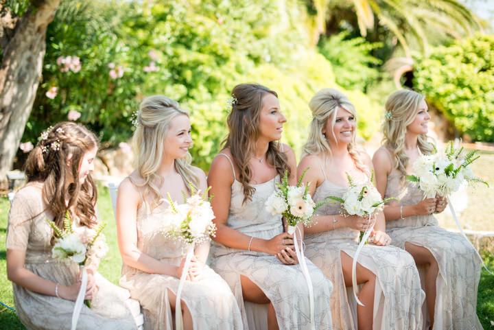 Ibiza Wedding bridal party By Gypsy Westwood Photography