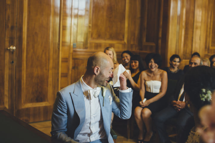 London Wedding groom at The Hoxton Arches By Tracey Hosey Photography
