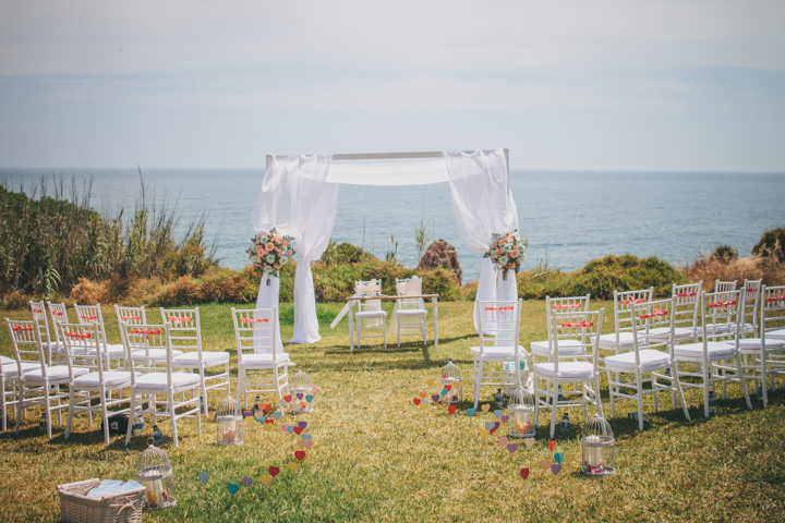 Algarve Wedding ceremony setting By Ana Parker Photography