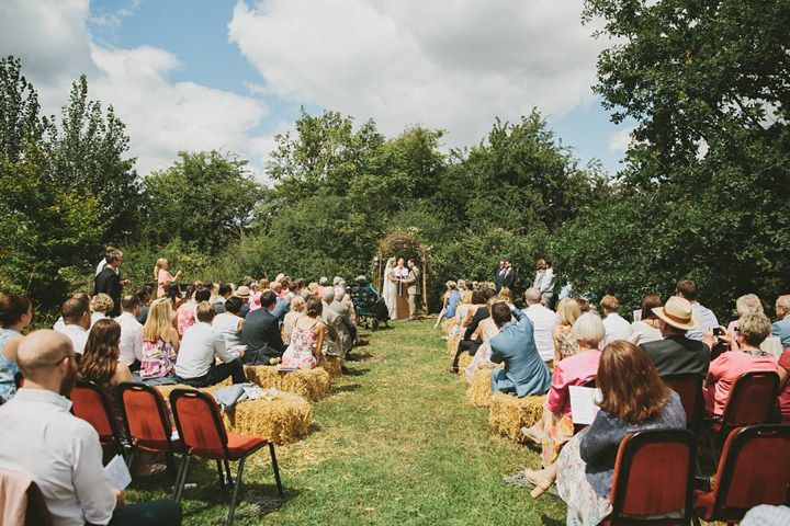 Woodland Wedding outdoor ceremony at the Clophill Centre
