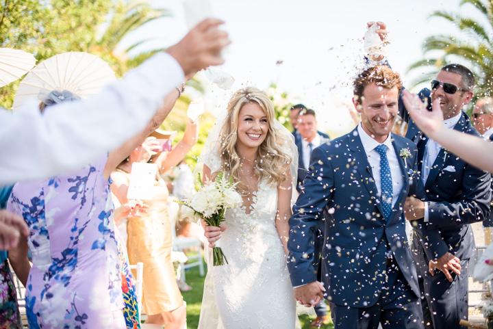 Ibiza Wedding confetti By Gypsy Westwood Photography