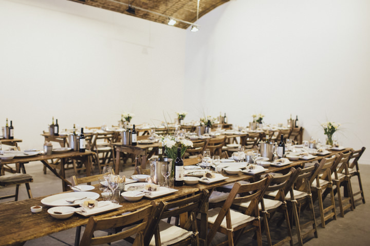 London reception setting Wedding at The Hoxton Arches By Tracey Hosey Photography