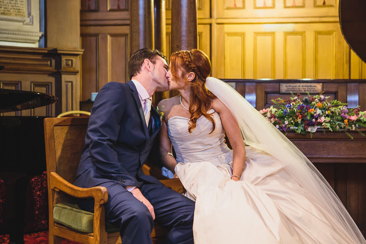 Kelham Island Museum Wedding kissing in Sheffield City Centre By Tierney Photography