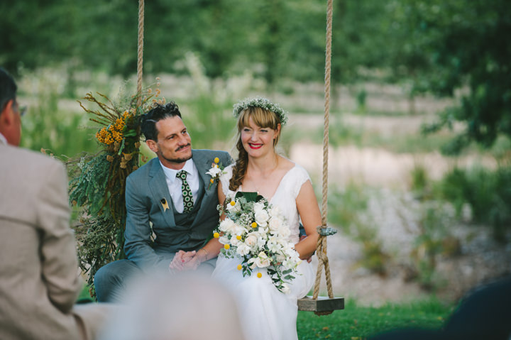 Natural South African Wedding very happy bride