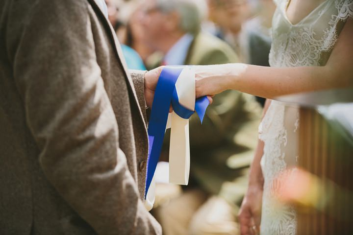 Woodland Wedding handfasting at the Clophill Centre