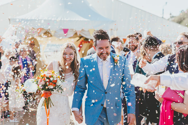 Bournemouth Beach Wedding confetti By Paul Underhill Photography