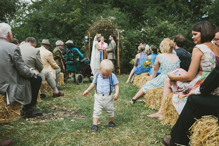 Woodland Wedding with children at the Clophill Centre