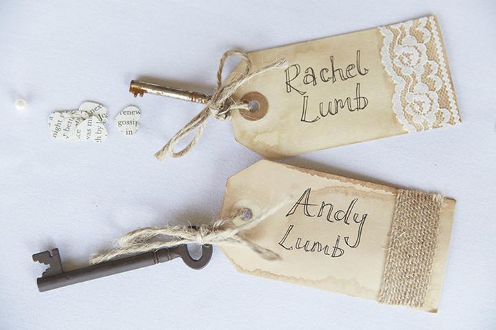 Barn Wedding at Dodford Manor in Northamptonshire wedding keys