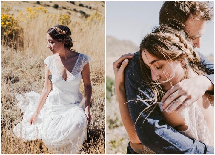 Bohemian Colorado Wedding beautiful bride