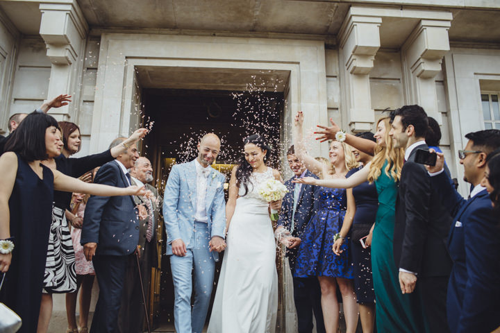 London Wedding confetti at The Hoxton Arches By Tracey Hosey Photography