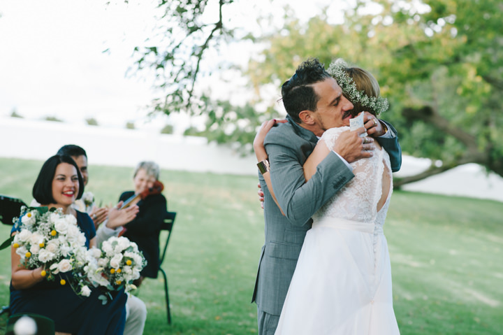 Natural South African Wedding just married