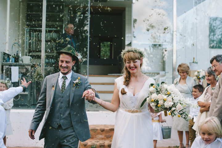 Natural South African Wedding confetti throw