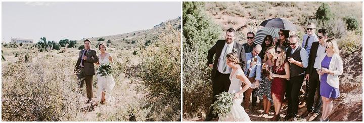 Bohemian Colorado Wedding guests