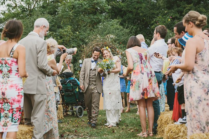 Woodland Wedding couple at the Clophill Centre By McKinley-Rodgers Photography