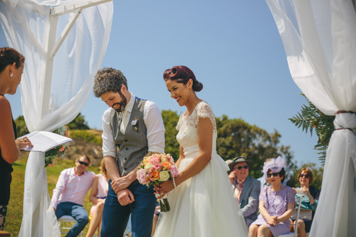 Algarve Wedding bride and groom By Ana Parker Photography