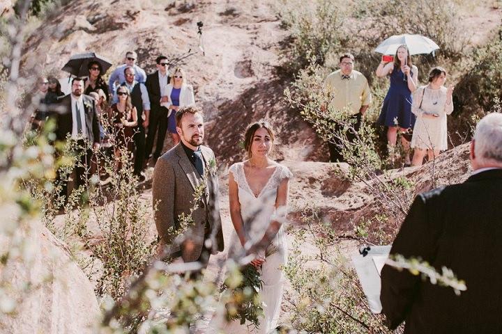 Bohemian Colorado Wedding getting married