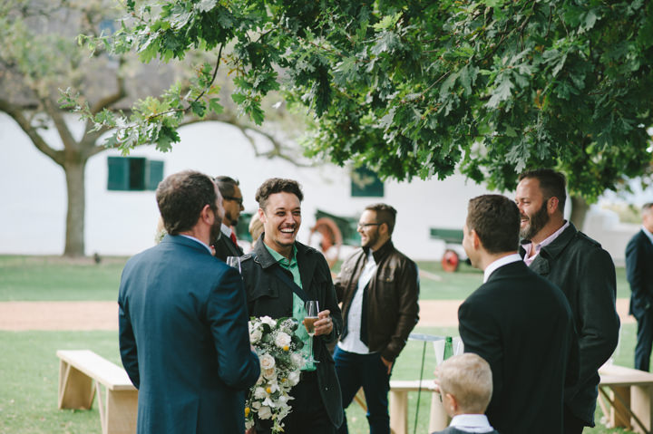 Natural South African Wedding guests
