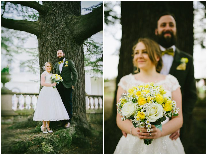 Wedding at Pinewood Studios couple portraits