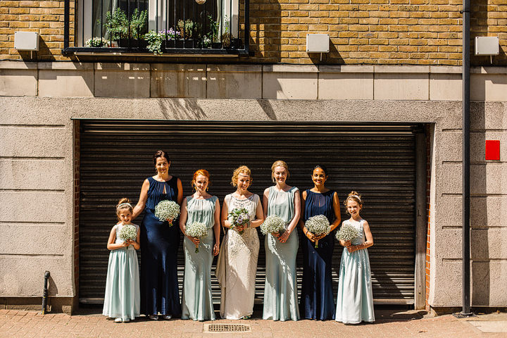Wilton's Music Hall Bridal Party Wedding in London