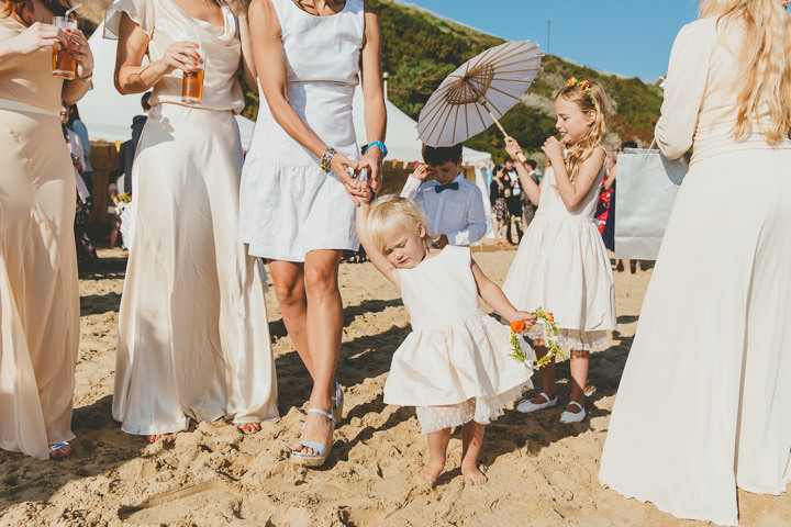 Bournemouth Beach flower girl Wedding By Paul Underhill Photography