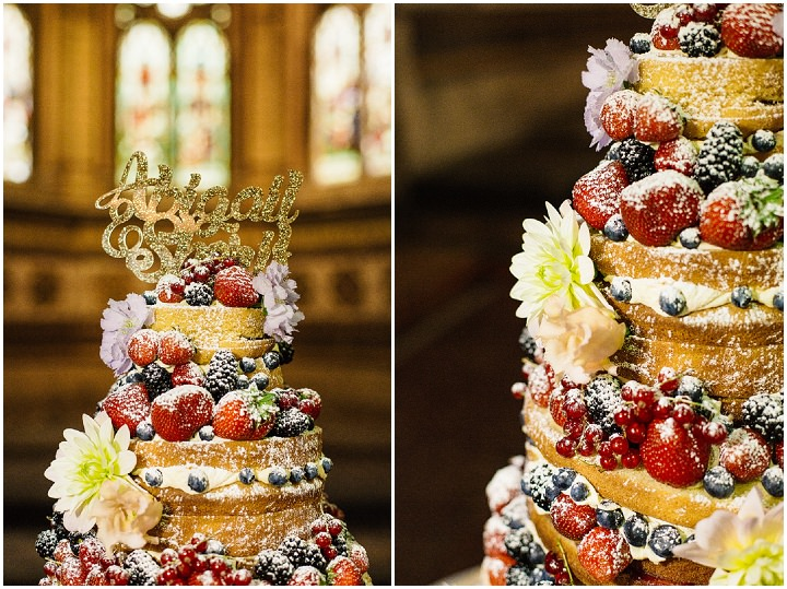Wilton's Music Hall Naked Wedding Cake Wedding in London