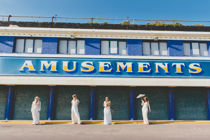 Bournemouth Beach bridal party Wedding By Paul Underhill Photography