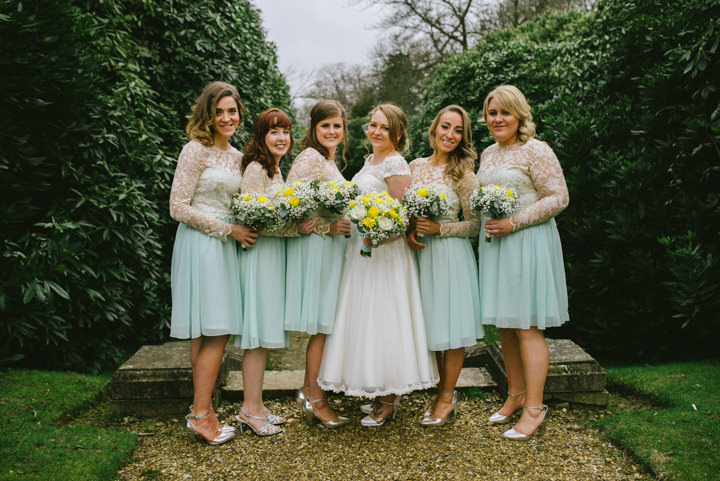 Wedding at Pinewood Studios bridal party