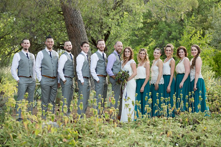Bohemian California bridal party Wedding By Images By Lori