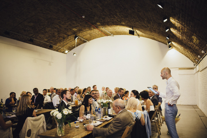 London Wedding speeches at The Hoxton Arches By Tracey Hosey Photography