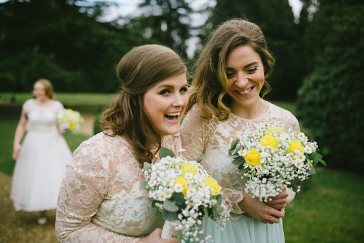 Wedding at Pinewood Studios Bridesmaids in mint