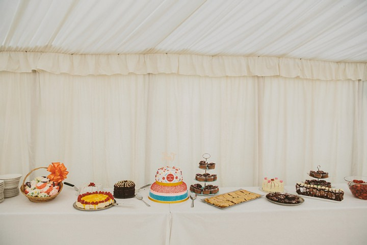 Woodland Wedding at the Clophill Centre Cake Table