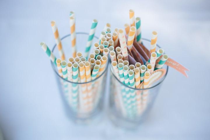 Algarve Wedding straws By Ana Parker Photography